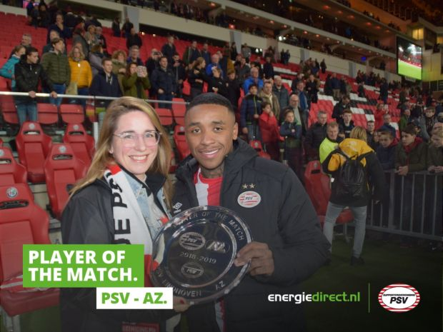 Player of the Match van PSV - AZ: Steven Bergwijn!